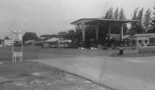 1970 RNZAF Bristol Freighter in the maintenance nose-hangar at 41 Sqn, Changi, Singapore