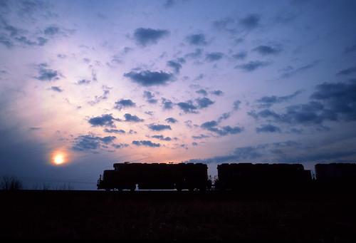 sunset sky silhouette wisconsin clouds wc marsh vernon wisconsincentral sd45 emd vernonmarsh fp45 vernonwisconsin emdsd45 wcsd45 wcfp45