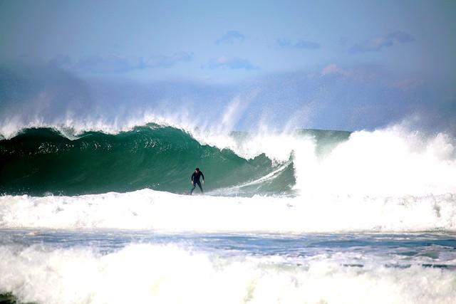 hossegor surf session big waves
