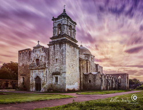 old longexposure sunset sky usa cloud storm motion building church rain architecture sanantonio photography evening ellen colorful catholic texas cross architecturaldetail outdoor afterthestorm picture sanjose historic mission historical after yeates sanjosemission mexcian timeofday colorsky ellenyeates movementclouds