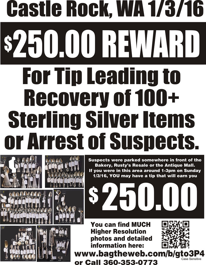 Silver reward $250 BW Flyer