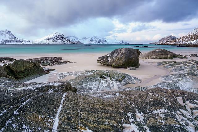 Haukland Beach.  Lofoten Islands