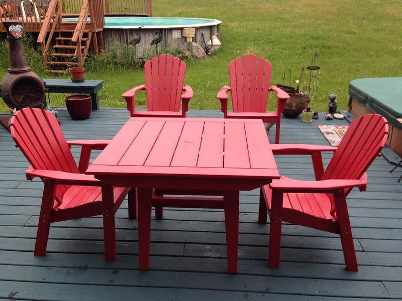 Seaside Casual MAD Table with Adirondack Chairs