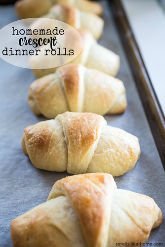 Homemade Crescent Dinner Rolls | by Smells Like Home