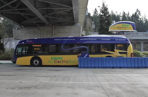 KCM 4602 (Proterra) charging at Eastgate P&R