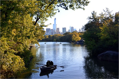 nyc lake centralpark manhattan
