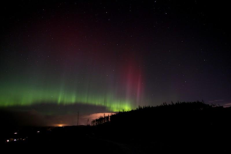 Pillars of Light - Aberdeenshire Aurora