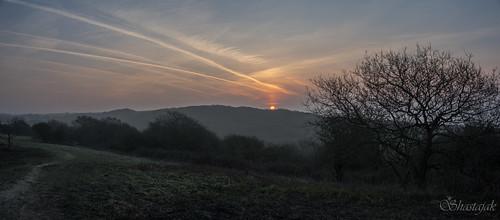 morning sunrise contrails sunup daybreak vapourtrail hastingscountrypark ecclesbourneglen