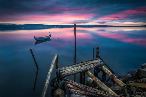pink blue naturaleza mañana nature sunrise landscape boat nikon purple paisaje serenity embarcadero serenidad longexpossure nd09