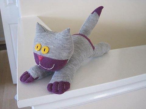 Katze Aus Socken Basteln Bastelanleitung Tutorial An