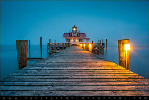 travel lighthouse fog coast nc northcarolina coastal nagshead bluehour outerbanks obx manteo screwpile albemarle outdoorphotographer