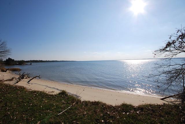 Beach winter Belle Isle State Park