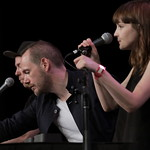 Fri, 18/03/2016 - 1:24pm - CHVRCHES Live at SXSW Day stage powered by VuHaus, 03.18.2016 Photographer: Sarah Burns
