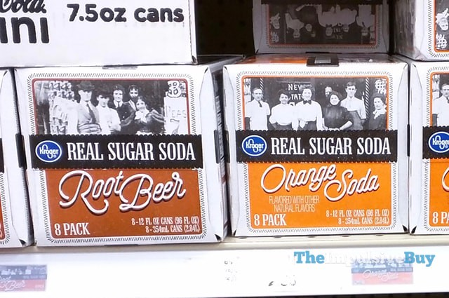 Kroger Real Sugar Soda Root Beer and Orange