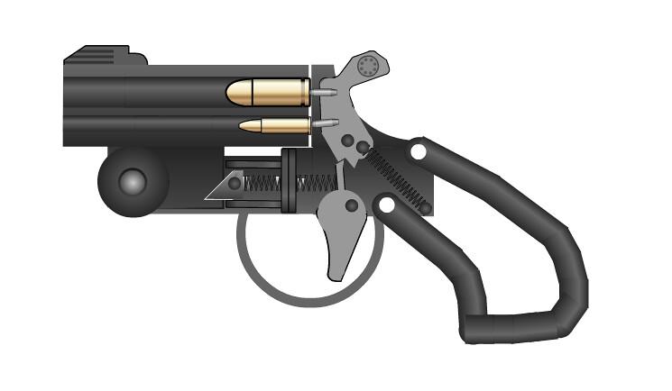 Combination derringer | Just sort of a concept idea on a ske… | Flickr