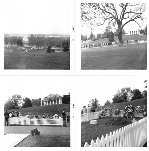 JFK gravesite, April 1964