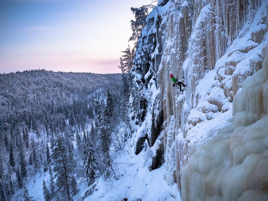 Rappeling action at Korouoma | Kuutti Heikkilä | Flickr