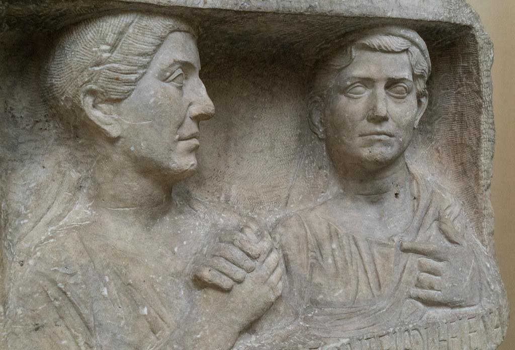 Romans - XLVII: Fonteia Eleusis & Fonteia Helena [1° c. BC - II H.] Marble