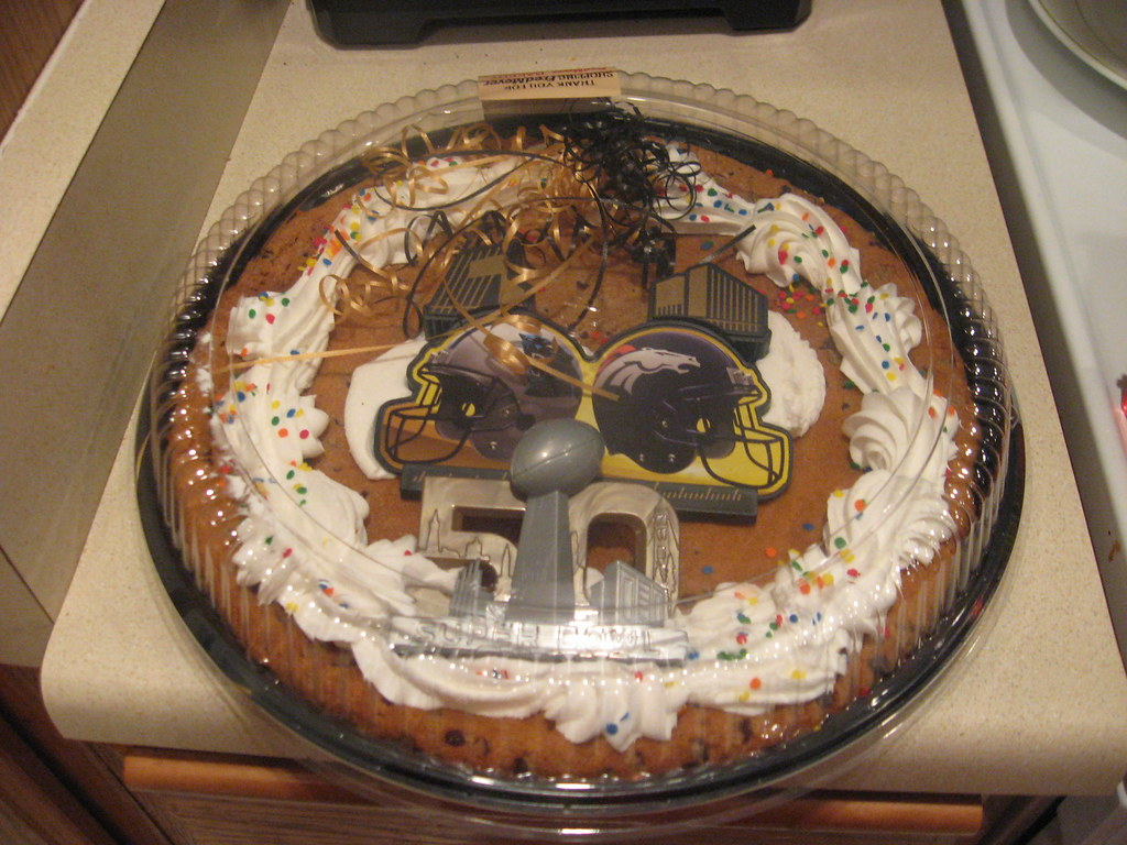 Pleasant Superbowl 50Th Anniversary Giant Cookie From Fred Meyer Flickr Funny Birthday Cards Online Inifofree Goldxyz
