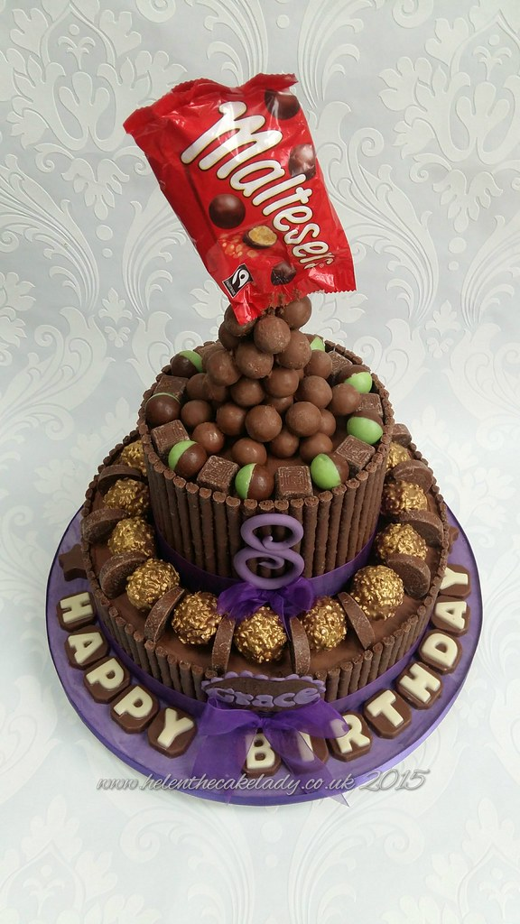 Chocolate Lovers Birthday Cake With Farerro Rocher Mint Matchmakers Areo Bubbles