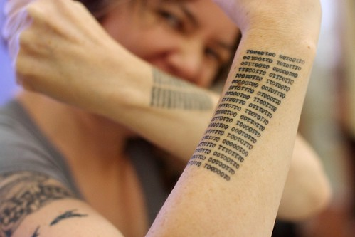 2016/366/79 Best Binary Literary Tattoos in the Universe | by cogdogblog