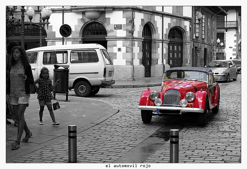 automovil rojo