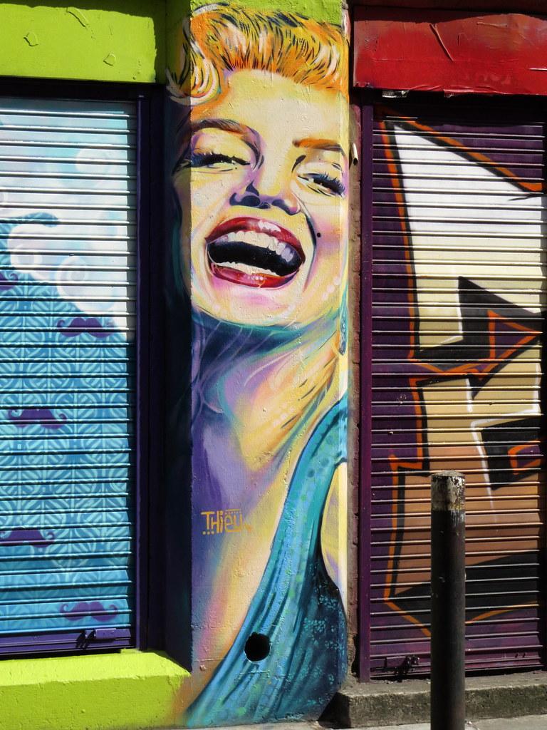 London Map Shoreditch Area: Graffiti In The Shoreditch Area Of London