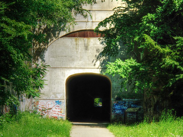 Tunnel along Sandy Creek Trail
