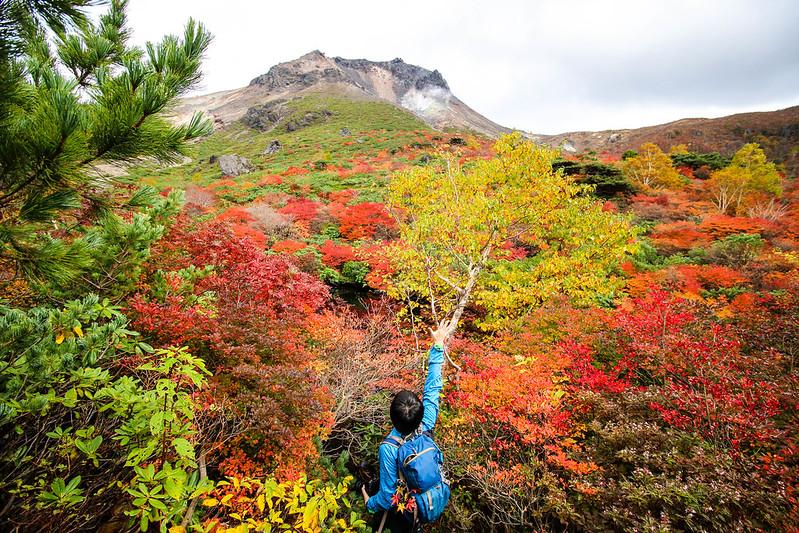 那須岳の紅葉登山
