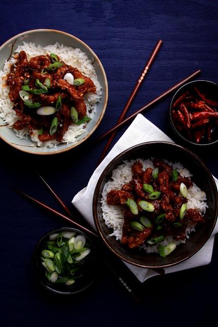 Olives for Dinner | Mongolian Soy Curls