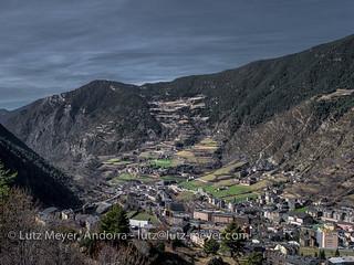 Andorra mountain landscape: Encamp, Vall d'Orient, Andorra