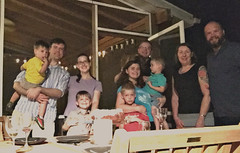 Jason, and Allie Potts hosted Chris and Christy Morden and kids and Mike and Jennifer Wienold. Guess Who's Coming to Dinner is one of the most fun socials the club holds. Guests do not know who their host is until the door opens. Hosts do not know who their guests will be.