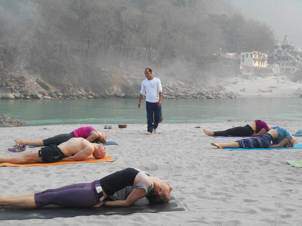 Fish Pose Vinyasa Yoga School Rishikesh