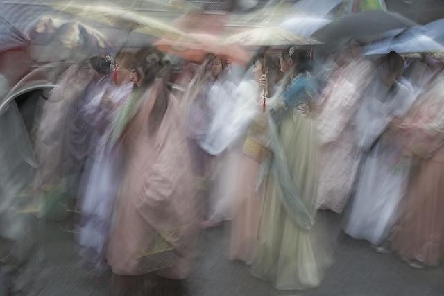 Ladies In Waiting, ICM composite photograph