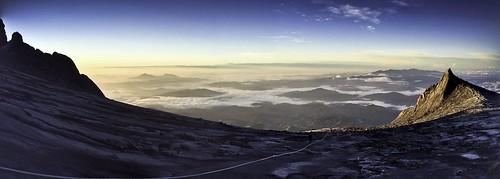 morning panorama sun mountain sunrise trekking trek landscape climb pano mount climbing malaysia borneo sabah kinabalu iphone iphoneography