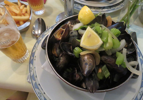 Classic mussels dish at Le Bourgeois in Brussels, Belgium