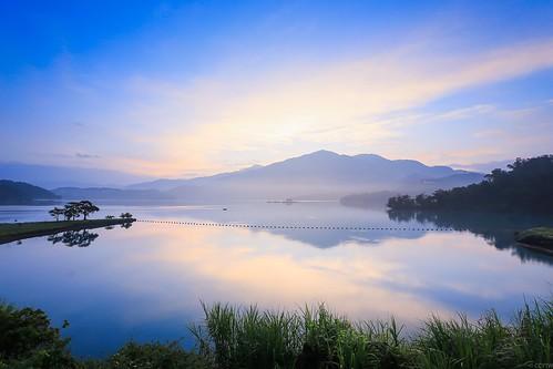日月潭 日出 出水口 sunrise taiwan 南投
