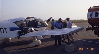 G-BIRT refueling Lucknow, India