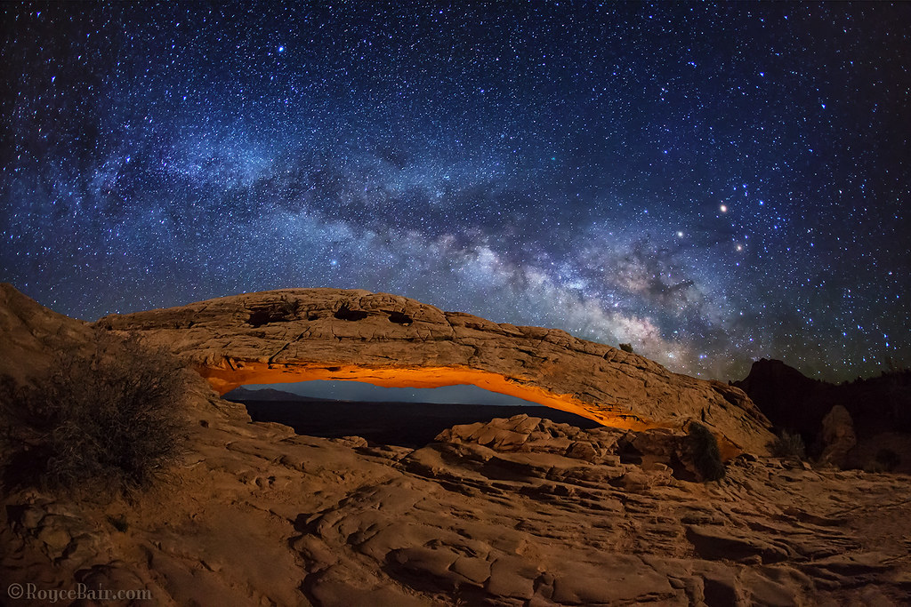 Milky Way over Mesa Arch | Here's a light painted Mesa Arch … | Flickr