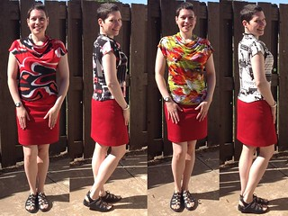 Four tops with red skirt   by saashka