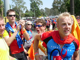 Cheering in the Last Riders | by Jamison Wieser
