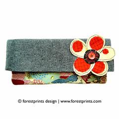 forest flower button purse - one piece edition