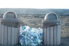 Water bottles at Volcano Park