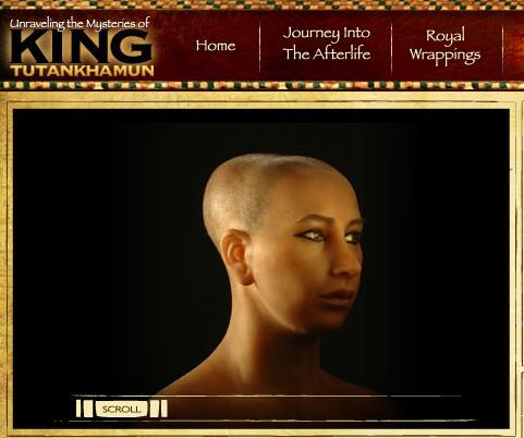 Tutankhamun's face