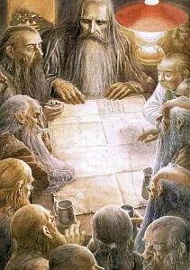 Ilustración de Alan Lee para el libro «El Hobbit»