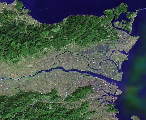 德岛县北部卫星图片