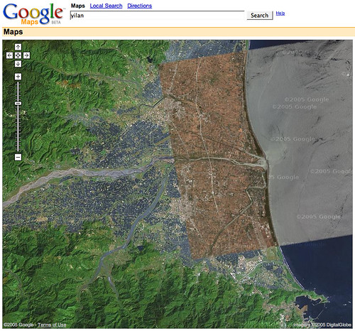 利用google map從空中看宜蘭