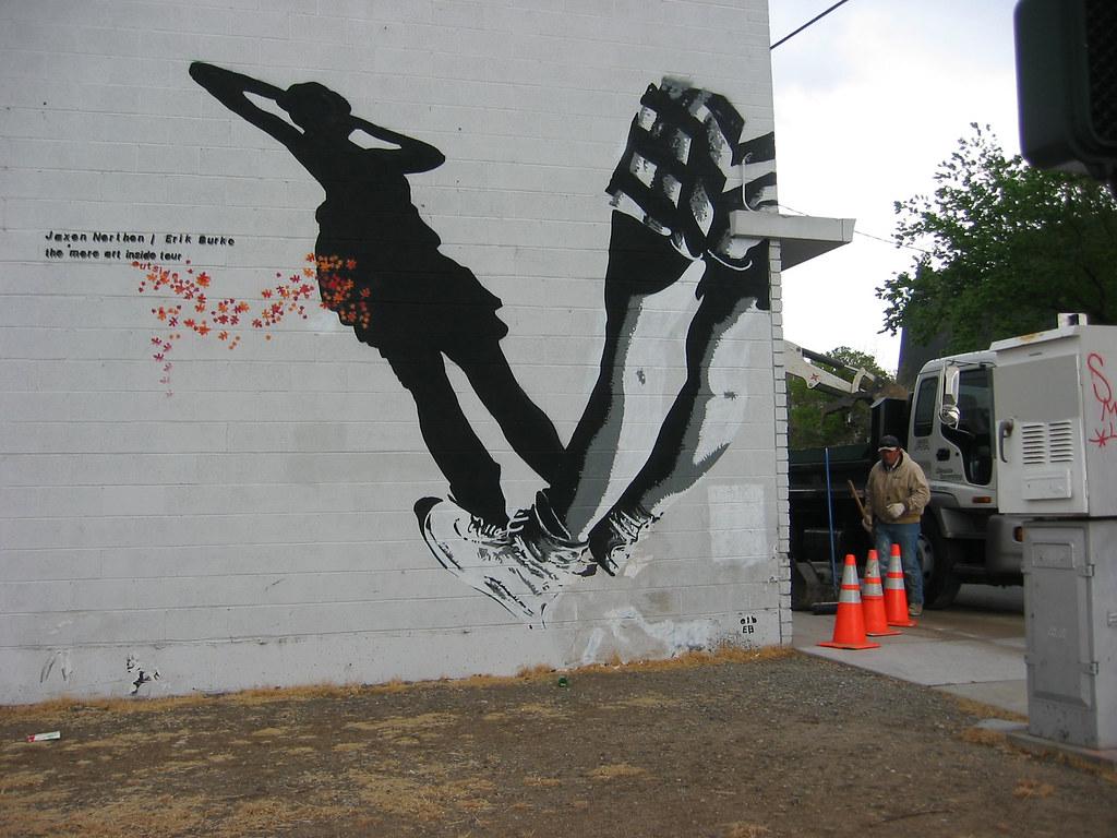 satelite mural
