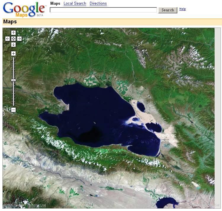 google map上的青海湖