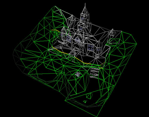 Super Mario 64 Castle WireFrame | Decoded wireframe polygon